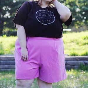 Pink mom shorts